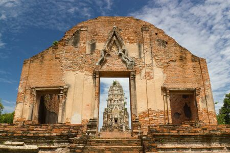 pagoda at ratchaburana temple. ayutthaya, thailand Stock Photo