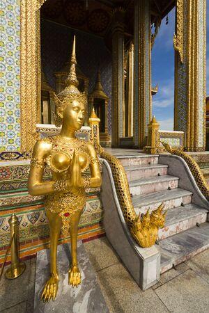kinnaree statue in grand palace. bangkok, thailand Stock Photo