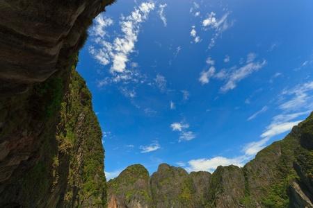 rocks and sky in Krabi, Thsiland