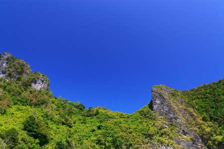 Blue sky mountain Stock Photo