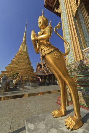 Kinnari statue, Bangkok, Thailand