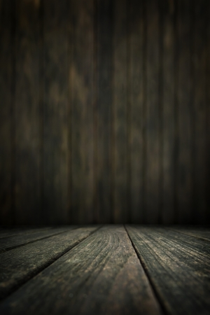 Wood background, table with wooden wall