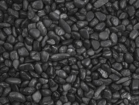 Black pebble stones background Stock Photo