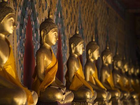 Buddha statue in temple, Bangkok, Thailand Stok Fotoğraf