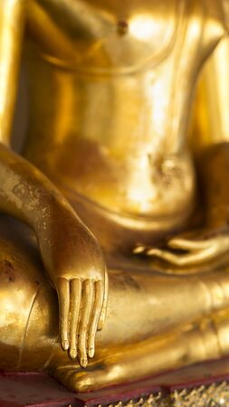Golden buddha in temple, Thailand