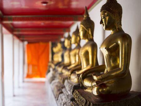Buddha statue at Wat Pho, Bangkok Thailand.