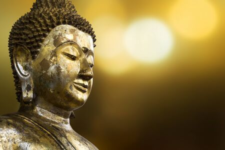 Face of buddha, Selective focus point on Buddha statue.
