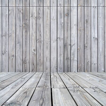 Empty wood wall and floor.