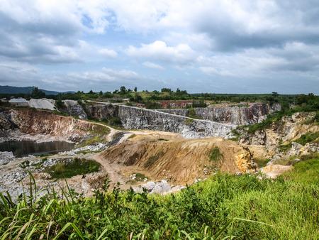 kaolin: The gypsum mining industry.
