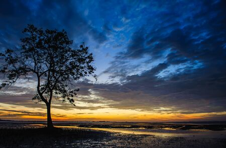 sunrises: sunrises in the morning sky, clouds and beautiful sea Stock Photo