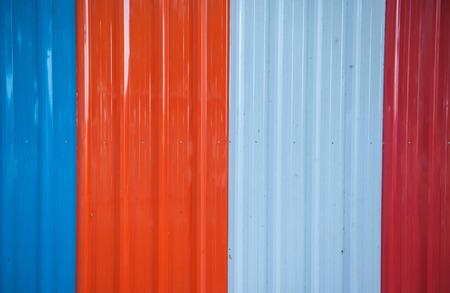 bulkhead: Zinc sheets adept use of temporary barrier walls.