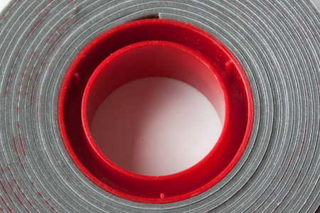 sided: Double sided foam tape on white background Stock Photo