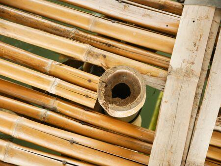 raft: Bamboo Brown Floor Raft Thai Stock Photo