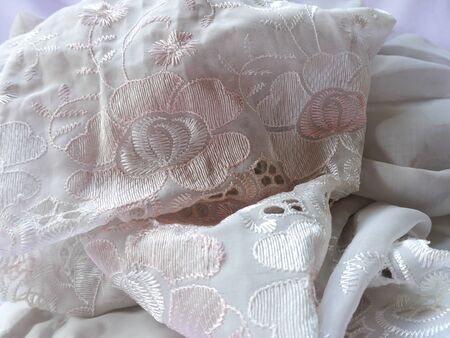 needlecraft product: Close up At The Lace Stock Photo