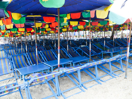 umbella: Many Chairs Beach At Seaside