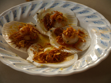thai food: Shell Grilled On Plate, Thai Food