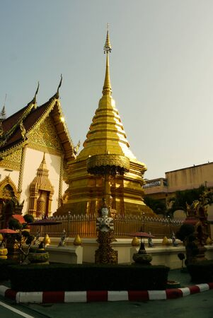 glod: Wat At The North Of Thailand Stock Photo