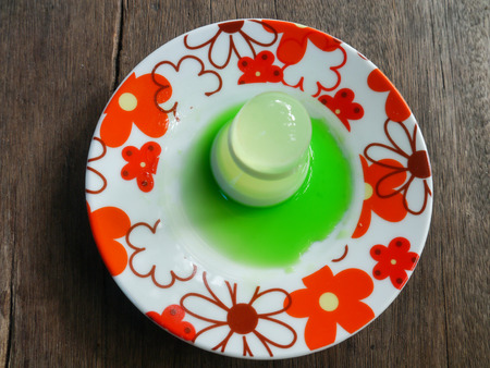 cone shaped: Jelly, Coconut Milk Sweet Food