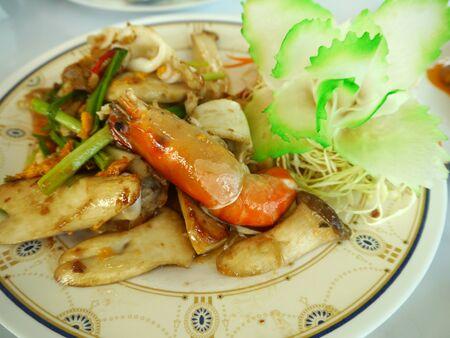 heathy: Thai Food, Salad Shrimp With Vegetable