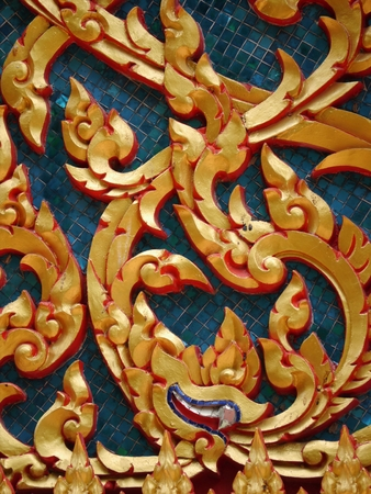 the outmoded: Thai Pattern, Background Thai Art Stock Photo