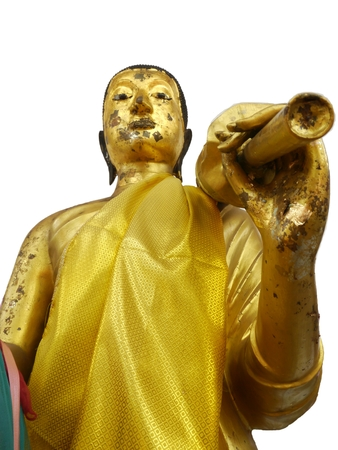 venerate: In Temple, Image Of Buddha