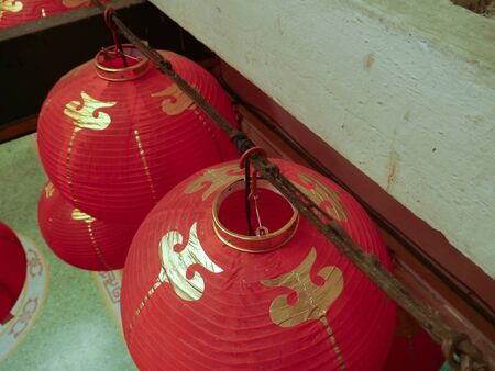 suspend: Chinese Temple At Yaowarat Thailand