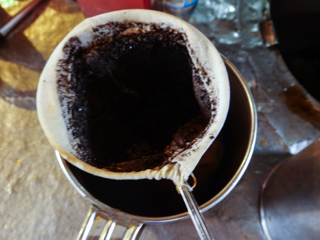 potation: Make Coffe By Old Fashioned Stock Photo