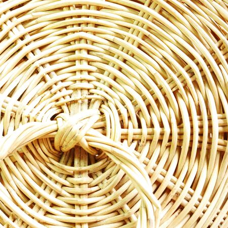 basket weaving: Close up Rattan Texture Background Stock Photo