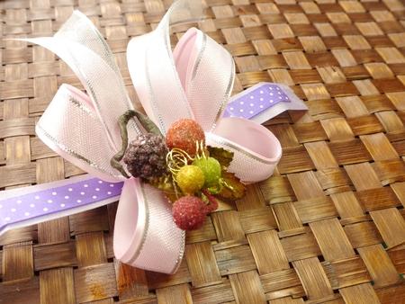moño rosa: Lazo rosa En Bambú-Mat