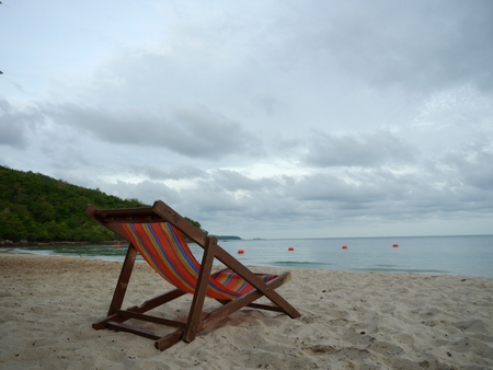 tether: beach chair on the beach