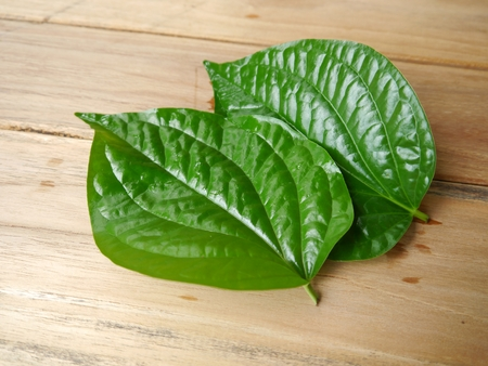 chaplu leaf on wooden background