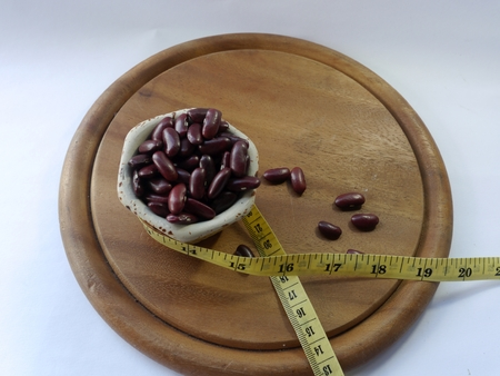 distance: Measure distance and red bean Stock Photo