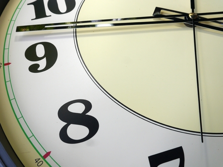 clockwise: background, closeup the big clock Stock Photo