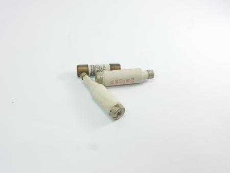 breaker: Fuse on white background, Circuit breaker