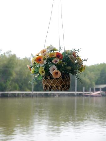 faked: fake flower basket for decoration