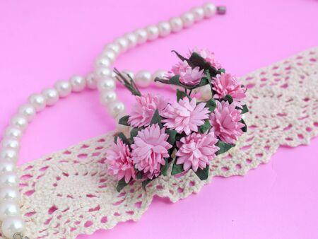Pearl Bracelet on white lace