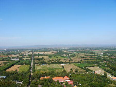 countryside landscape: Landscape countryside, High Angle view