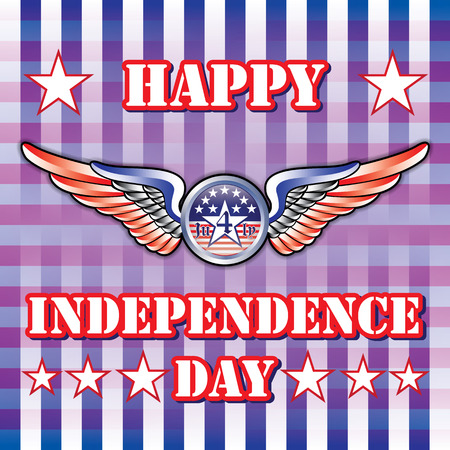 �back ground�: Happy Independence day Blue back ground  vector illustrator
