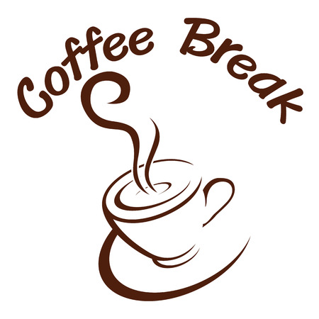 Coffee  break  hot  vector  illustration