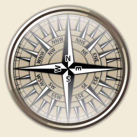 compass vector: Compass  Vector Illustration Illustration