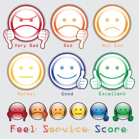unsatisfied: Feed Back Score  Feel Score Service