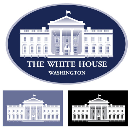 monument: White House - detailed vector illustration