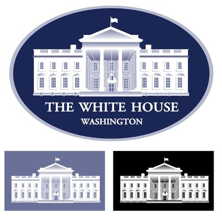 Witte Huis - gedetailleerde vector illustratie Stock Illustratie
