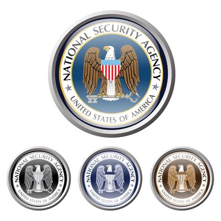 secret service: emblem of us american secret service  national security agency