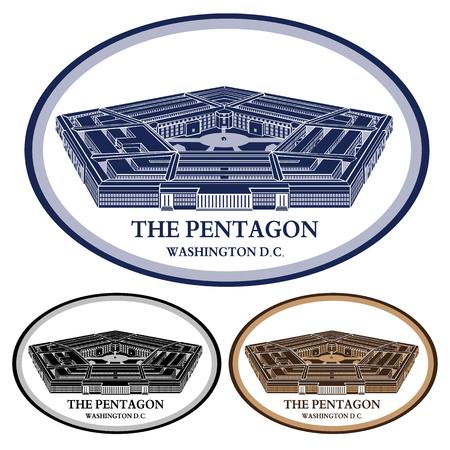 Pentagon- gedetailleerde vector illustratie
