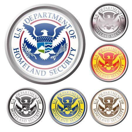 united state: emblem of united state department of homeland security Illustration