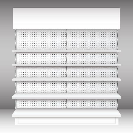 Supermarket shelf  Vector  shelves Ilustração