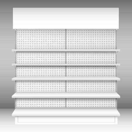 shelf: Supermarket shelf  Vector  illustration