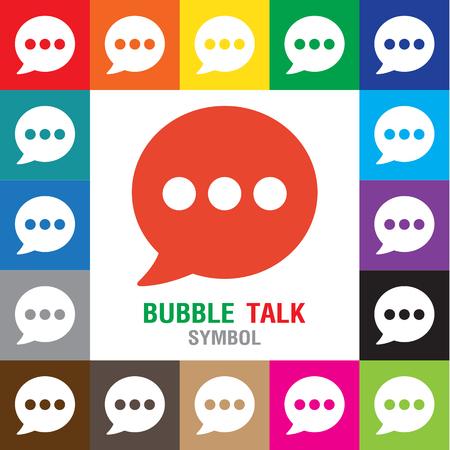 Speech bubble iconen op een witte achtergrond. Vector illustratie. Stock Illustratie