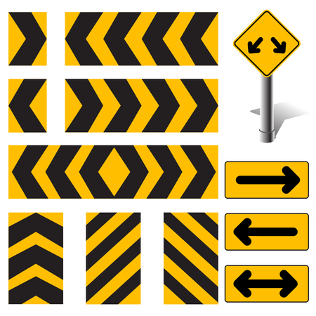 Vector Road Sign Set Illustration